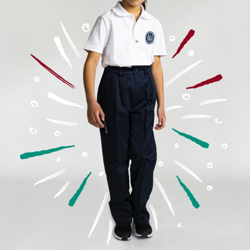 Pants Boy Poly Half Elastic All Grades
