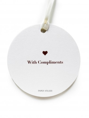 With Compliments Gift Tag