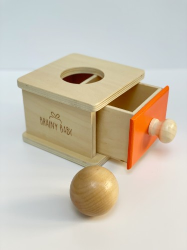 Montessori Object Permanence Box with Drawer