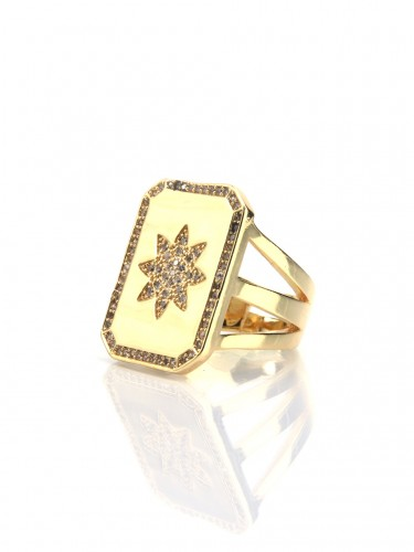 SULTANA Star Engraved Ring