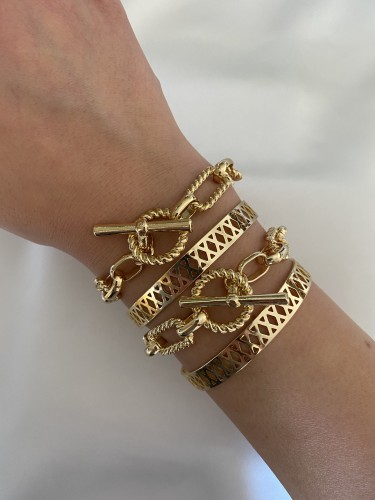 BEVERLEY Twisted Chain Bracelet- Bundle of 2 Pieces