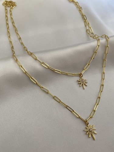 SOLEIL Double Layers Necklace