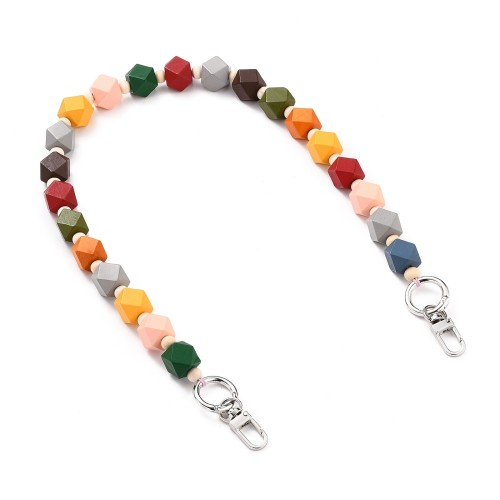 Natural Wooden Colored Beads Strap