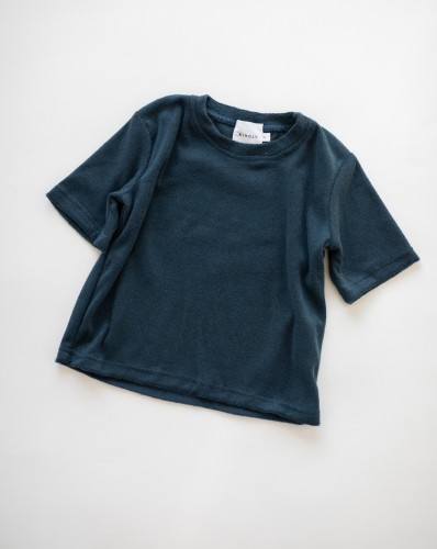 TERRY TOWELLING TEE AND SHORTS - Navy