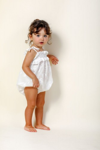 IVORY ABEDUL EMBROIDERED ROMPER