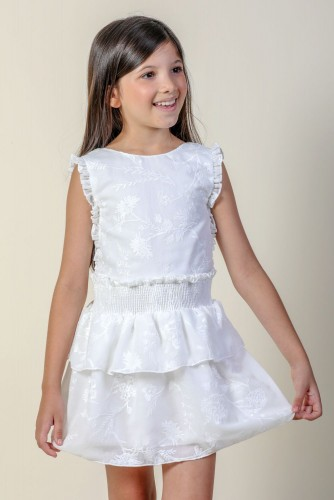 IVORY ABEDUL EMBROIDERED DRESS