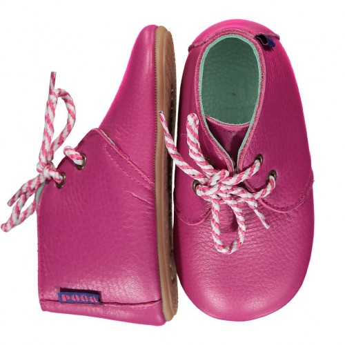 LEATHER MIGHTY SHOES  - Hot Pink